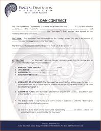bunch ideas of business loan contract template stunning business