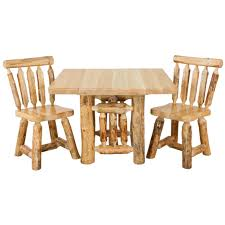 rustic pine kitchen table minnesota pine log dining room
