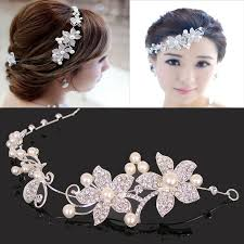 flower girl hair accessories aliexpress buy 2015 pearl wedding headband for women