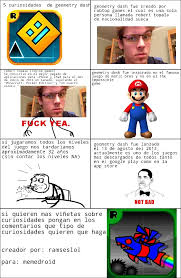 Memes En Espaã Ol Para Facebook - curiosidades de geometry dash meme by ramseslol memedroid