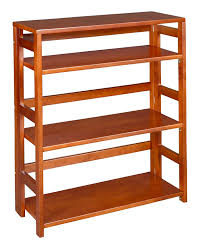 Bookshelves Cherry by Amazon Com Regency Flip Flop 34 Inch High Folding Bookcase