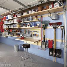 how to build a garage loft easy garage storage solutions family handyman