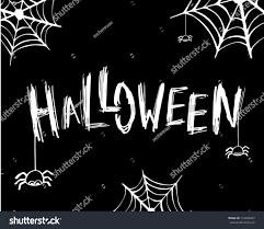 Halloween Card Invitation Halloween Card Banner Lettering Design Vector Stock Vector
