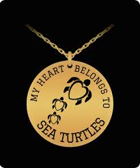 photo engraved necklace my heart belongs to sea turtles laser engraved necklace shellvation