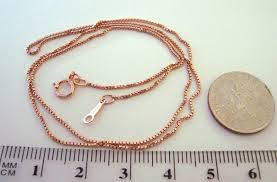 gold filled chain necklace images 85mm 18 quot 14k rose gold filled delicate box chain necklace jpg
