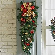 christmas swags for outdoor lights pre lit madison teardrop christmas swag improvements