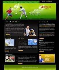 web design templates football clubs professional web design templates