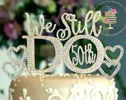 50th wedding anniversary cake toppers 50th anniversary cake topper etsy