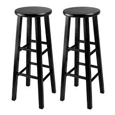 Home Bar Sets by Amazon Com Winsome 29 Inch Square Leg Bar Stool Black Set Of 2
