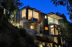 hillside home designs contemporary hillside homes design lighting homescorner