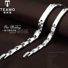 titanium steel bracelet images Teamo his and hers bracelets personalized id name tag bracelets jpg