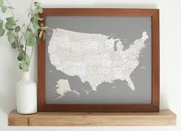 us map framed framed us map with pins 6f33c97b3f30e85f9a9bcbe8e8930bdb large