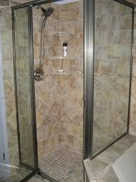 bathroom bathroom remodeling idea with doorless cornered shower