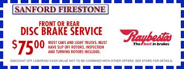 Brake And Light Inspection Price Sanford Firestone Pacifica Ca Tires Wheels U0026 Auto Repair Shop