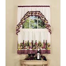 Grapes Kitchen Curtains Very Cheap Price On The Wine And Grape Kitchen Curtains
