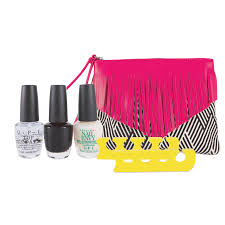 nail envy pedicure pack with fringe bag opi cosmoprof