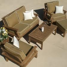 royal teak collection miami 4 person teak deep seating set