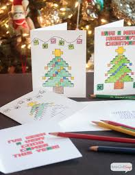 minecraft coloring pages christmas cards atta says