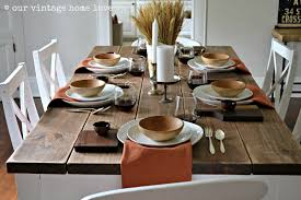 our vintage home love autumn table decor and a vintage industrial