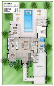 outdoor living floor plans master modern house plan with outdoor living room 86039bw