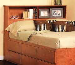 Bookcase Bed Queen Furniture Home Wood Bed Frame Without Headboard Queen Size