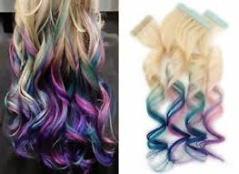 teal hair extensions in remy ombre human hair extensions rainbow blue teal