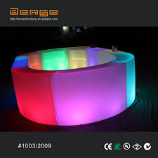 sales event nightclub led round snake bar counter lighted led