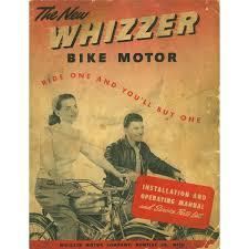 extremely rare unrestored 1948 schwinn whizzer model wz motorized