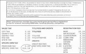 colorado registration u2013 ownership tax receipt colorado tax aide