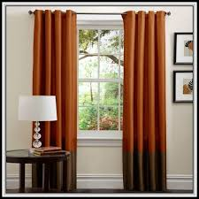 Orange And Brown Curtains Brown And Burnt Orange Curtains Curtains Home Decorating Ideas