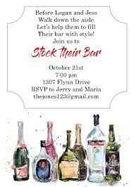 stock the bar shower party invitations new selections fall 2017