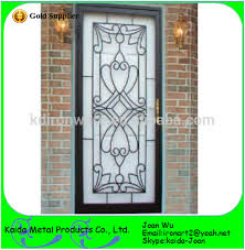 ornamental security iron grill door design for home view security
