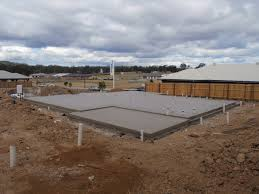 new concrete house slab with step down brisbane concrete