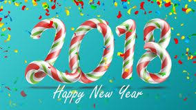 happy new years posters 2018 happy new year vector 3d number sign in christmas colours