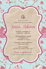 vintage baby shower invitations vintage floral rustic bridal baby shower party invitations