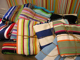 patchwork and quilting fabric squares and bundles the stripes