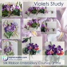 silk ribbon embroidery online silk ribbon embroidery classes ingrid creates online arts