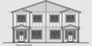 Duplex House Plans For Narrow Lots Duplex House Plan With Rear Garage Narrow Lot Townhouse Plan