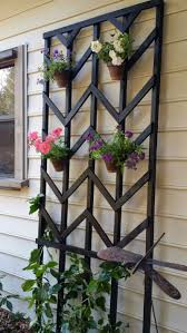 how to build a garden trellis from start to finish hang flower pots on trellis