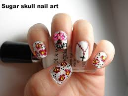 sugar skull day of the dead nail art el dia de los muertos youtube