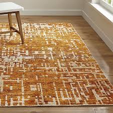 Crate And Barrel Bath Rugs Celosia Orange Hand Knotted Rug Crate And Barrel
