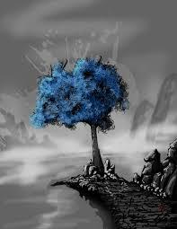 blue tree by scorpionmonkey on deviantart