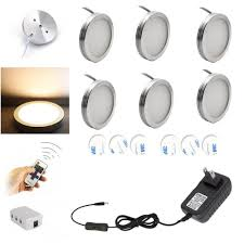 counter kitchen cabinet lights aiboo led cabinet lighting 6pcs led puck lights with wireless rf remote dimmable for counter shelf furniture lights white wire