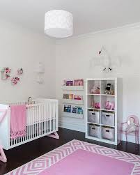 Girls Pink Rug Designs Ideas Perfect Pink Nursery With White Baby Crib And