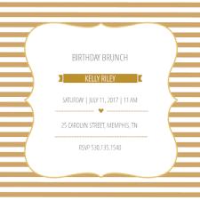 birthday brunch invitation brunch stripes free printable birthday invitation template