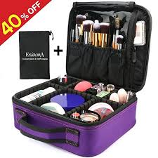 makeup artist accessories makeup bag esarora portable travel makeup cosmetic organizer