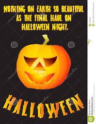 halloween pumpkin poster design royalty free stock images image