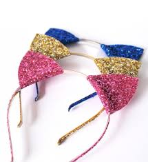 glitter kitty cat ears headband halloween fancy dress cat woman