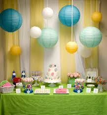 birthday decoration ideas at home with balloons polkadot homee ideas