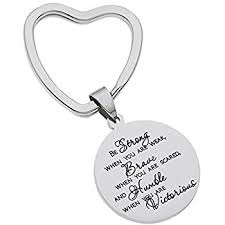 inspirational keychains high polished stainless steel keyring be strong when